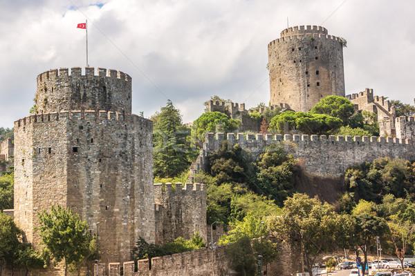 Kastély Európa középkori tájékozódási pont Isztambul Törökország Stock fotó © bloodua