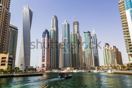 Dubai marina városkép 13 modern épületek Stock fotó © bloodua