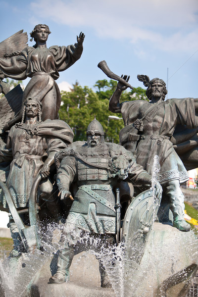 Monument of City-founders in Kiev. Ukraine Stock photo © bloodua