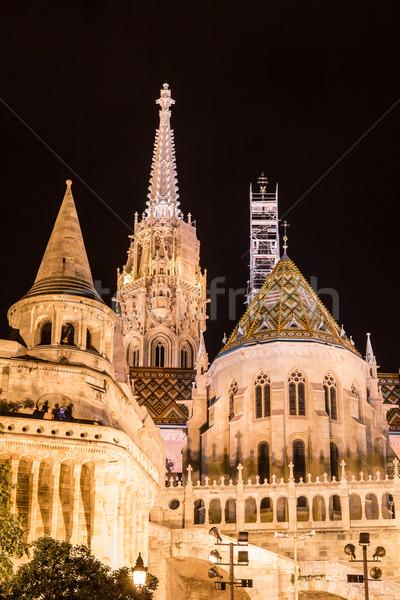 ночь мнение Будапешт Венгрия город Сток-фото © bloodua