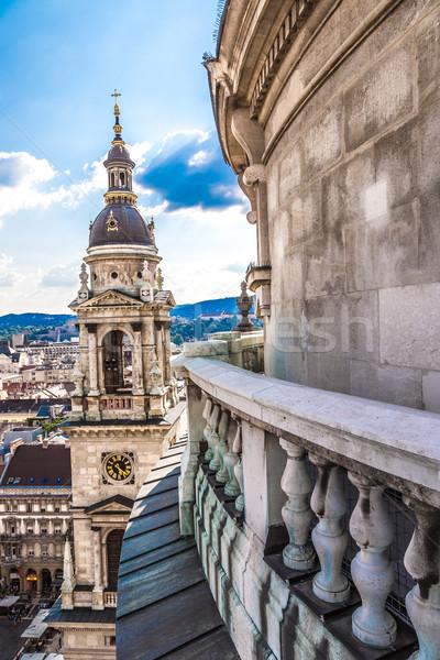 ストックフォト: ブダペスト · 先頭 · バシリカ · 表示 · ハンガリー