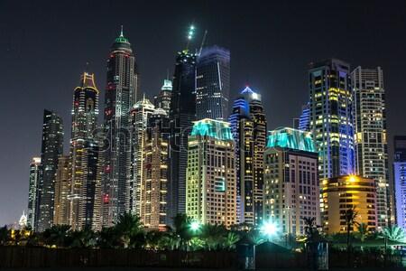 Dubaï marina cityscape 13 modernes bâtiments Photo stock © bloodua