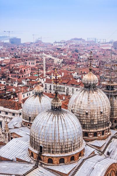 собора квадратный Венеция Италия ночь Церкви Сток-фото © bloodua
