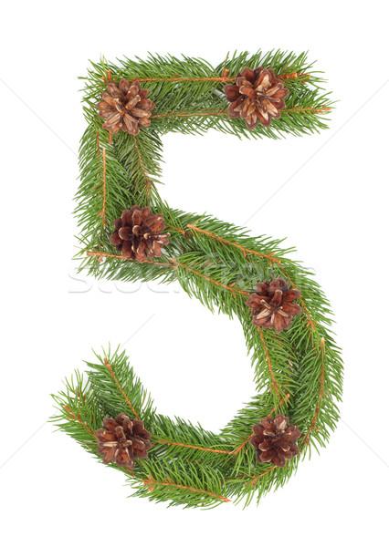 Número árvore de natal decoração completo conjunto projeto Foto stock © bloodua