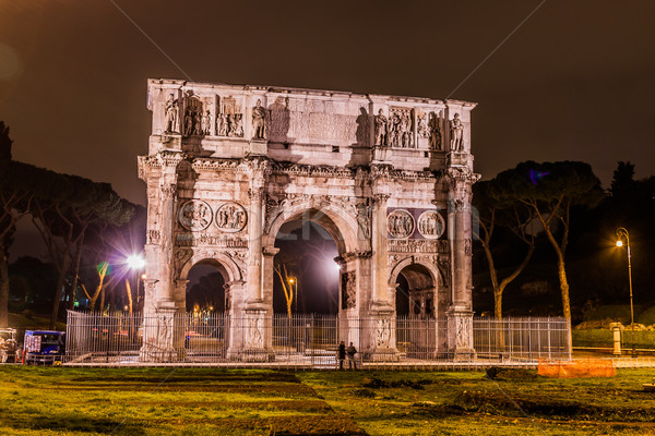 Arch of Constantine in Rome Stock photo © bloodua