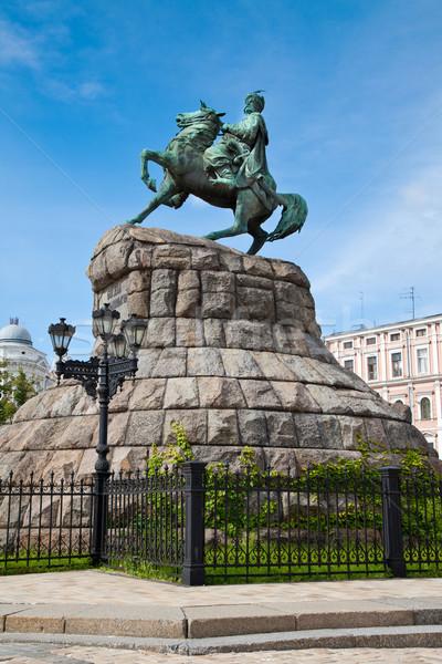 Hetman Bogdan Khmelnitsky statue in Kiev, Ukraine Stock photo © bloodua