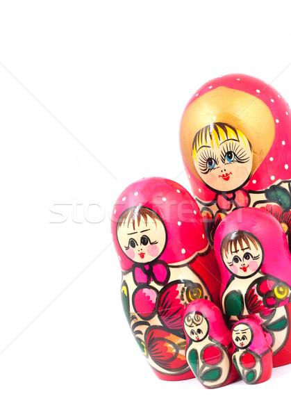 ロシア 人形 孤立した 白 家族 顔 ストックフォト © bloodua