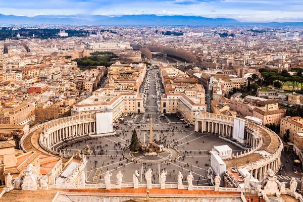 ローマ イタリア 有名な 広場 バチカン ストックフォト © bloodua