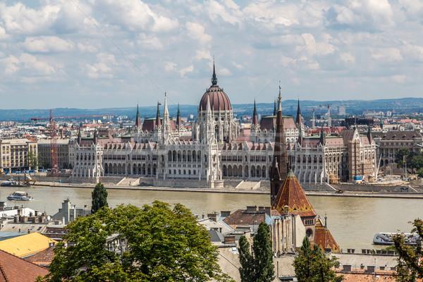 Bina parlamento Budapeşte Macaristan nehir Stok fotoğraf © bloodua