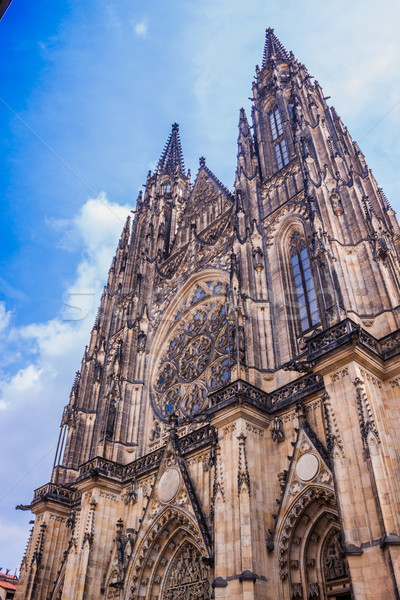 The west facade of St. Vitus Cathedral in Prague (Czech Republic Stock photo © bloodua