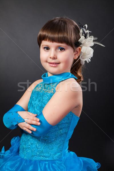 肖像 かわいい 笑みを浮かべて 女の子 王女 ドレス ストックフォト © bloodua