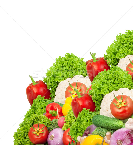 新鮮な野菜 孤立した 白 葉 フルーツ 背景 ストックフォト © bloodua