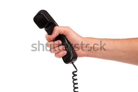 Strony starych czarny telefon rur Zdjęcia stock © bloodua