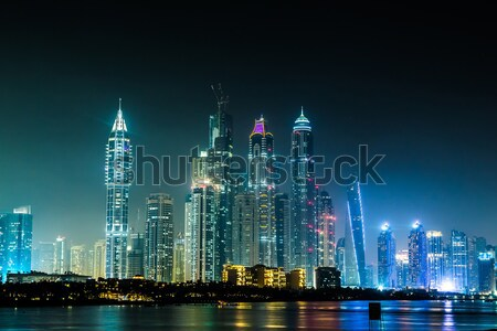 Dubaï marina cityscape 13 modernes bâtiments Photo stock © bloodua