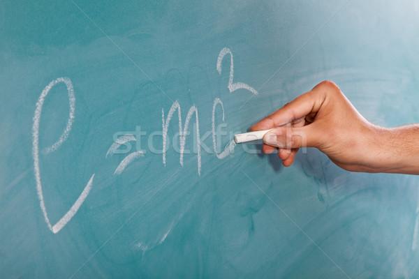 Einstein's Formula E=mc2 on a blackboard Stock photo © bloodua