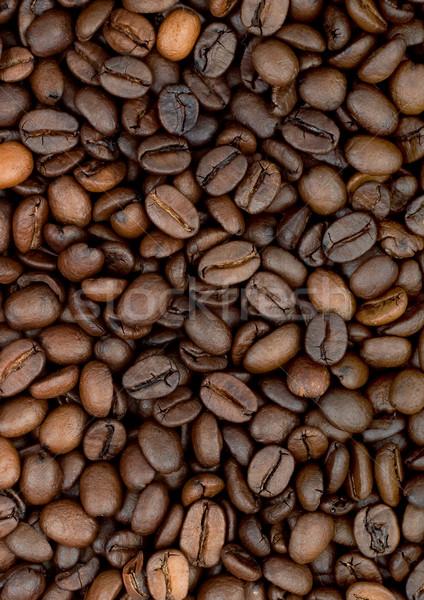 Kávébab aromás pörkölt barna csokoládé fekete Stock fotó © bloodua