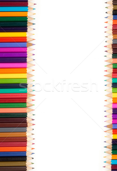 Assortment of coloured pencils Stock photo © bloodua
