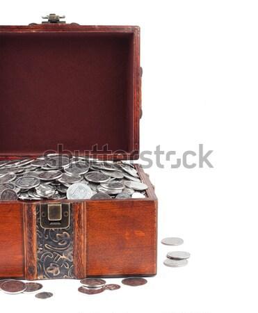 Schatkist geïsoleerd witte achtergrond financieren slot Stockfoto © bloodua