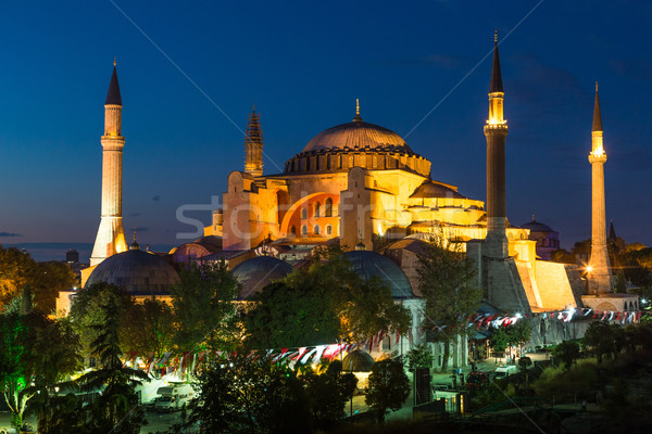 Hagia Sophia in Istanbul Turkey at night Stock photo © bloodua