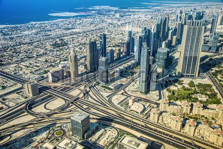 Dubai downtown. East, United Arab Emirates architecture. Aerial  Stock photo © bloodua
