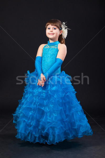 Portrait of cute smiling little girl in princess dress Stock photo © bloodua