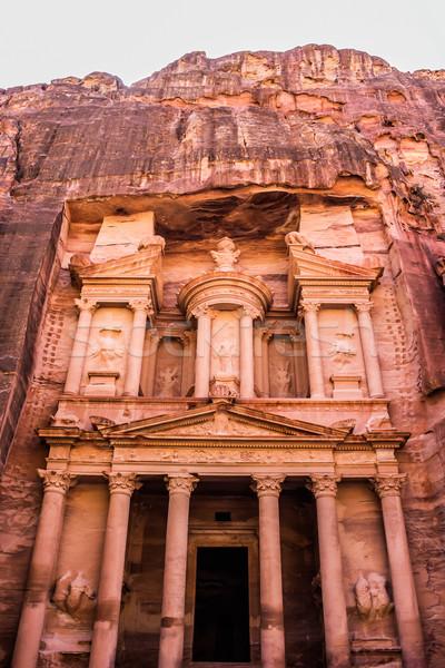 Skarbiec Jordania starożytnych miasta dzień górskich Zdjęcia stock © bloodua
