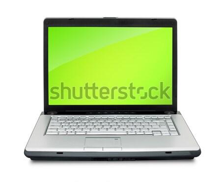 Portátil abierto teclado Screen aislado Foto stock © bloodua