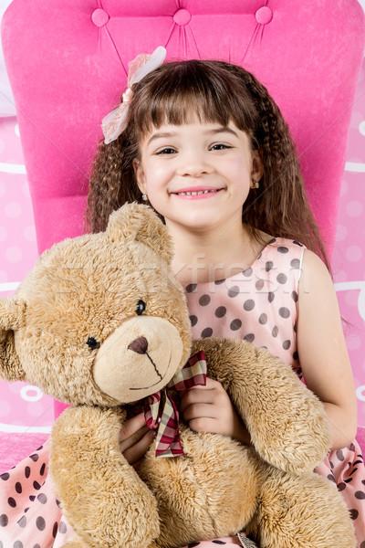 Meisje teddybeer prinses teddy Stockfoto © bloodua