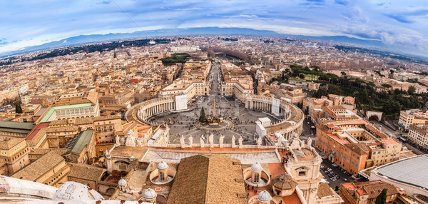Rome, Italy. Famous Saint Peter's Square in Vatican and aerial v Stock photo © bloodua