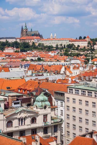 プラハ 市 1 美しい ヨーロッパ 通り ストックフォト © bloodua