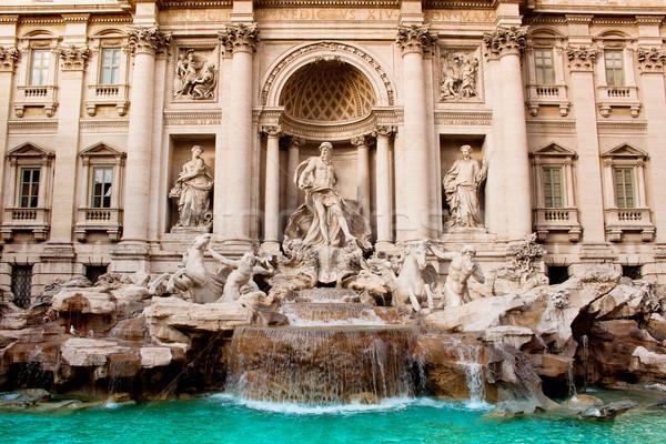 Trevi Çeşmesi ünlü işaret Roma çeşme dünya Stok fotoğraf © bloodua