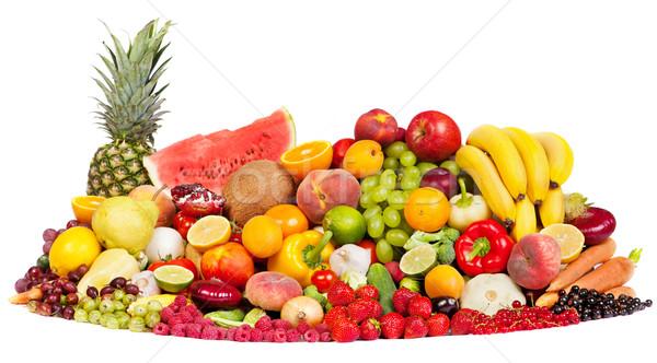 巨大な グループ 新鮮な野菜 果物 孤立した 白 ストックフォト © bloodua