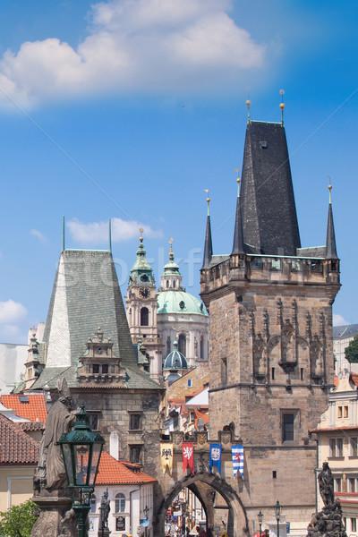 Сток-фото: Прага · моста · Чешская · республика · город · один · красивой