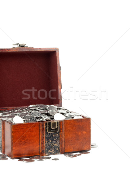 Treasure Chest. Isolated on a white background Stock photo © bloodua
