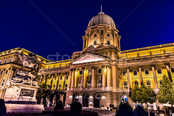 shot of night Buda Castle in Budapest, Hungary Stock photo © bloodua