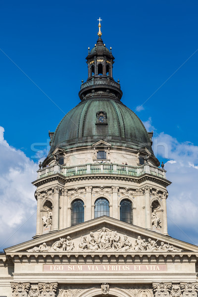 Bazilika legnagyobb templom Budapest Magyarország ház Stock fotó © bloodua