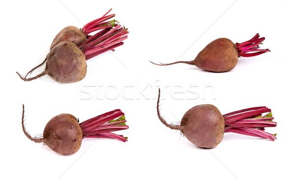 set of Fresh red beet isolated on  white Stock photo © bloodua