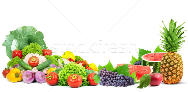 Fresh fruits and vegetables Stock photo © bloodua