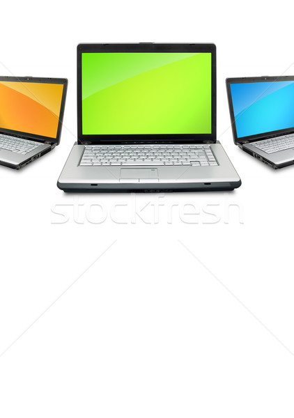 Open laptops Stock photo © bloodua