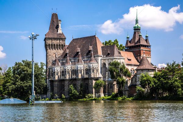 The Vajdahunyad castle, Budapest main city park Stock photo © bloodua