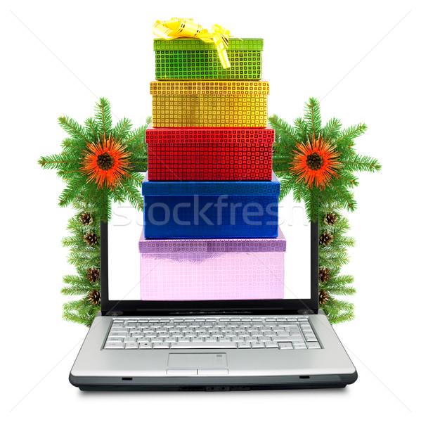 Karácsony váz izolált fehér háttér monitor Stock fotó © bloodua