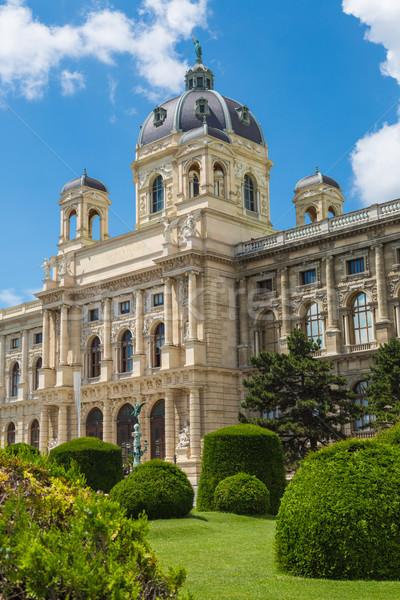 Muzeum naturalnych historii Wiedeń Austria widoku Zdjęcia stock © bloodua