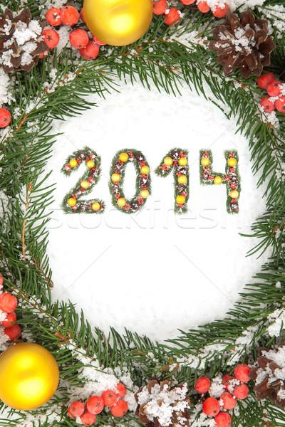 Natale 2014 ornamento isolato bianco Foto d'archivio © bloodua