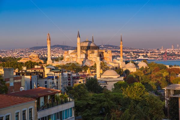 Híres Isztambul Törökország gyönyörű Szófia egy Stock fotó © bloodua