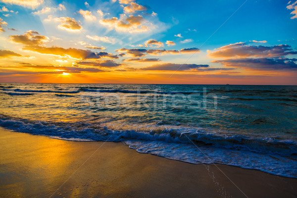 Stock photo: Dubai sea and beach, beautiful sunset at the beach