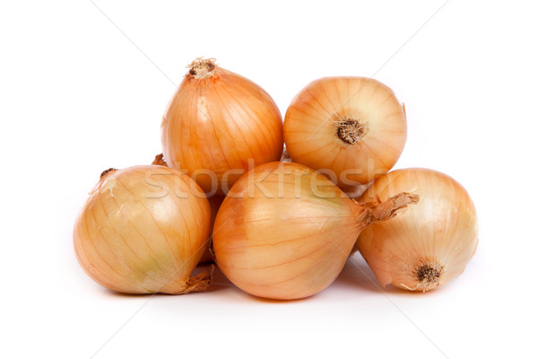 Group of a onions, isolated on white Stock photo © bloodua