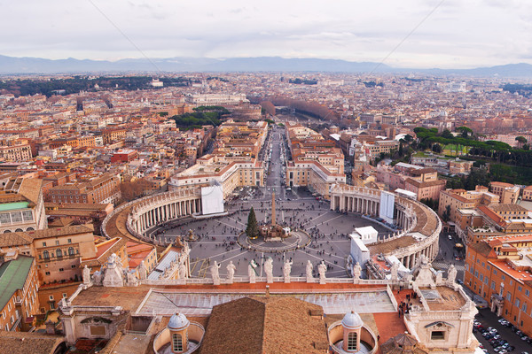 Panorama watykan Rzym panoramę widok z lotu ptaka domu Zdjęcia stock © bloodua