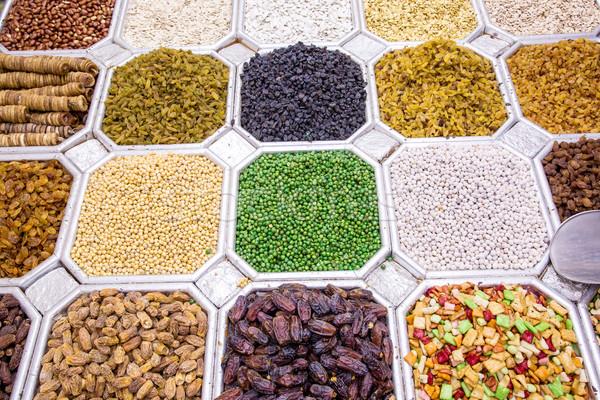 сушат фрукты орехи Дубай рынке Сток-фото © bloodua