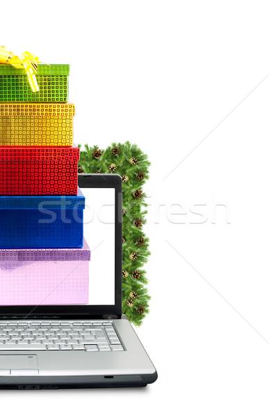 Karácsony váz izolált fehér laptop háttér Stock fotó © bloodua