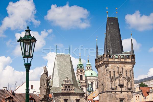 Karlov or charles bridge in Prague Stock photo © bloodua